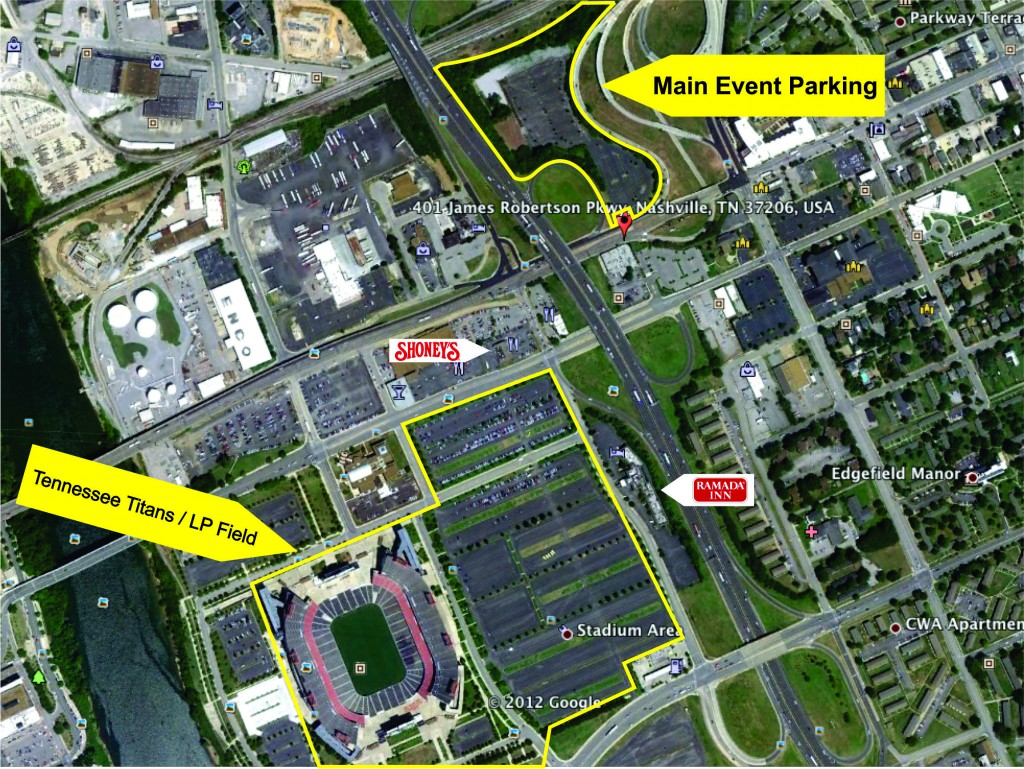 Main Event Sky View LP Field Parking Tennessee Titans Parking Lot - Lp field parking map