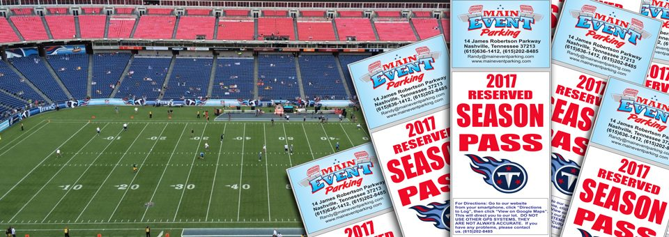 Nissan Stadium Tennessee Titans Season Parking Passes Available Now - Lp field parking map