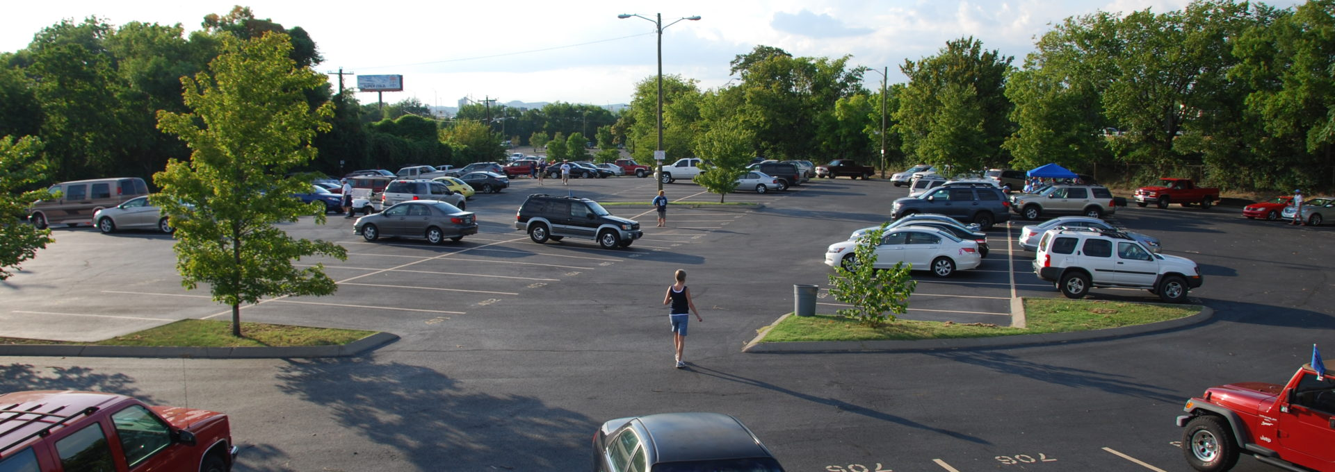 Overview of parking lot