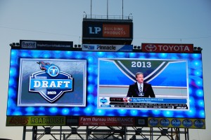 It was nice to watch the NFL Draft on the big LP Field Screens