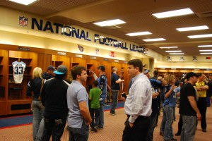 Fans got an up close look at the Titans Lockeroom
