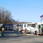 fans tailgating for Music City Bowl