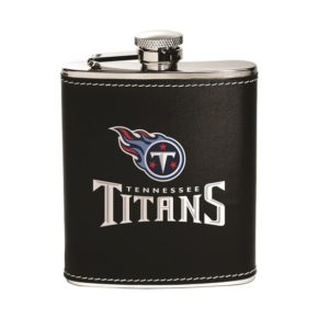 Tennessee Titans Leather Flask